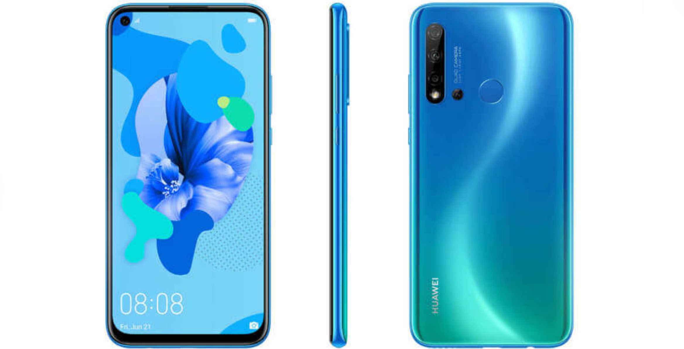 Huawei chuan bi ra mat mot chiec smartphone gia re voi man hinh duc lo va 4 camera sau (1).