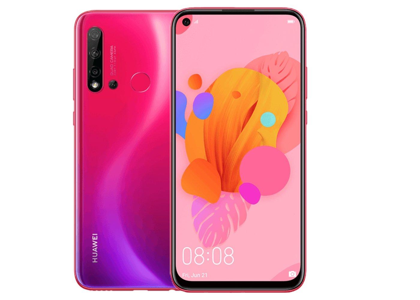 Huawei chuan bi ra mat mot chiec smartphone gia re voi man hinh duc lo va 4 camera sau.