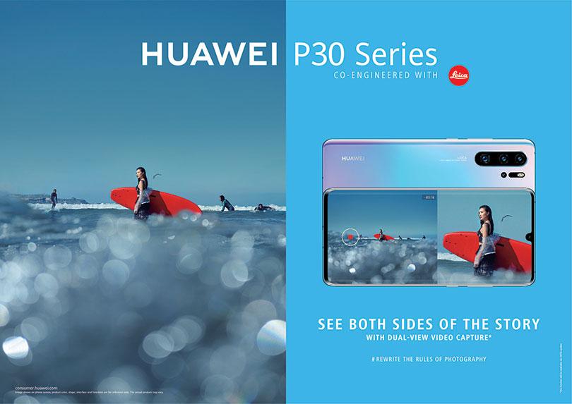 HUAWEI P30 P30 PRO co the su dung tinh nang quay camera kep.